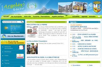 Page d'accueil du site internet