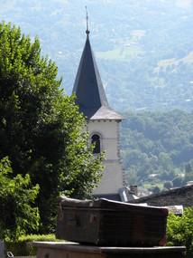 L'église vue de Canarie