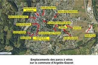 Implantation des parcs à vélo sur la commune