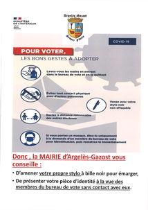 CORONAVIRUS (COVID-19) : POUR VOTER, LES BONS GESTES À ADOPTER
