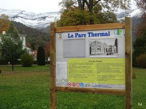 NOUVEAUX PANNEAUX DANS LE PARC THERMAL D'ARGELES-GAZOST