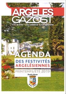 AGENDA 2019 DES ANIMATIONS A ARGELES-GAZOST