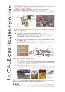 PERMANENCES DU CAUE (Conseil d'Architecture, Urbanisme, Environnement des Hautes-Pyrénées)
