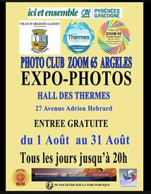 EXPO-PHOTOS DU CLUB ZOOM 65 DANS LE HALL DES THERMES D'ARGELES-GAZOST