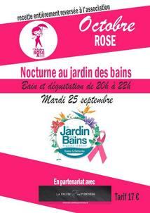 OCTOBRE ROSE AU JARDIN DES BAINS D'ARGELES-GAZOST