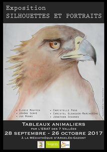 EXPOSITION SILHOUETTES ET PORTRAITS ANIMALIERS A LA MEDIATHEQUE D'ARGELES-GAZOST