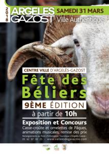 FÊTE DES BÉLIERS AU CENTRE VILLE D'ARGELÈS-GAZOST