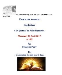 LECTURE A LA MEDIATHEQUE D'ARGELES-GAZOST