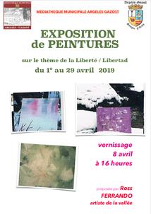 EXPOSITION DE PEINTURES A LA MÉDIATHÈQUE D'ARGELES-GAZOST